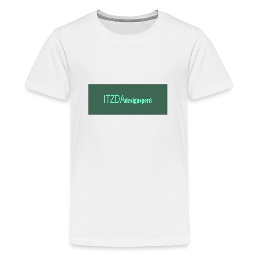 logo face jpg - Camiseta premium adolescente