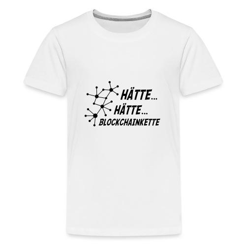 Blockchainkette - Teenager Premium T-Shirt