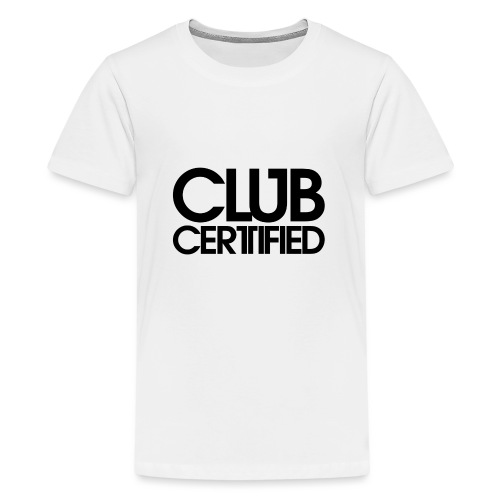 LOGO CLUB CERTIFIED BLACK - Teenage Premium T-Shirt