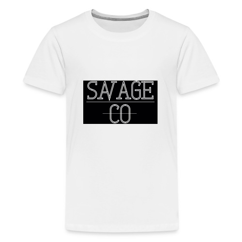 SAVAGE CO. - Camiseta premium adolescente