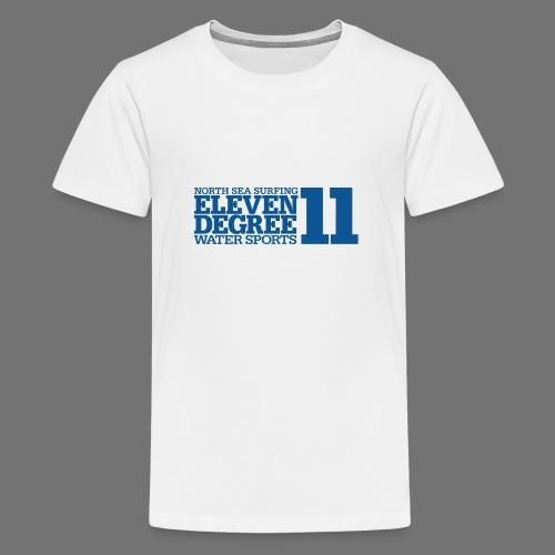 Surfing - eleven degree watersports (blue) - Teenage Premium T-Shirt