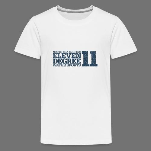 eleven degree gray blue (oldstyle) - Teenage Premium T-Shirt