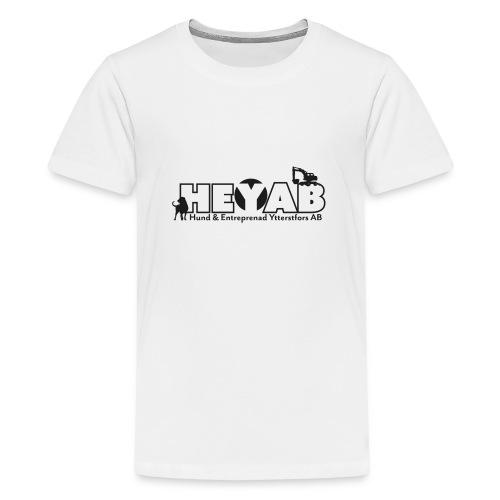 HEYAB logo outline - Premium-T-shirt tonåring