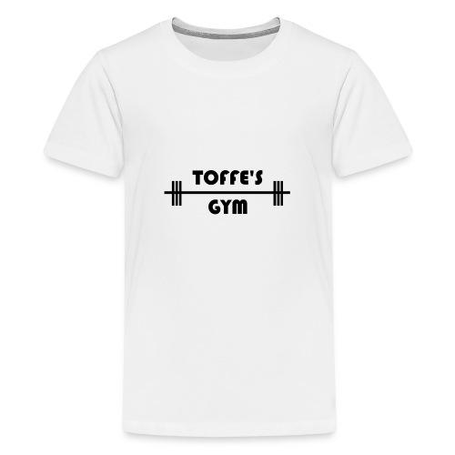 Toffe's gym black - Premium-T-shirt tonåring