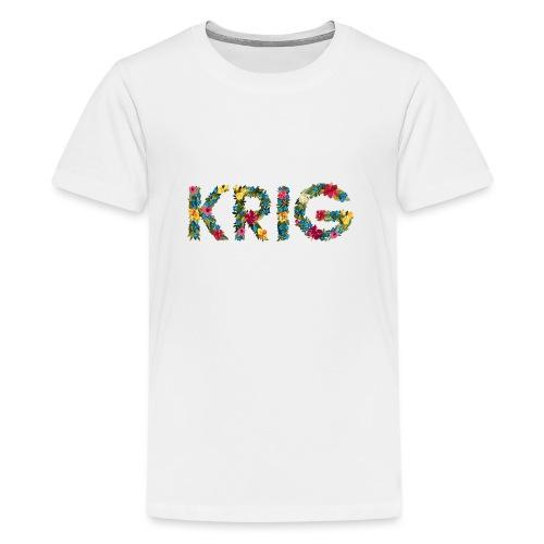 Blomstrende krig - Premium T-skjorte for tenåringer