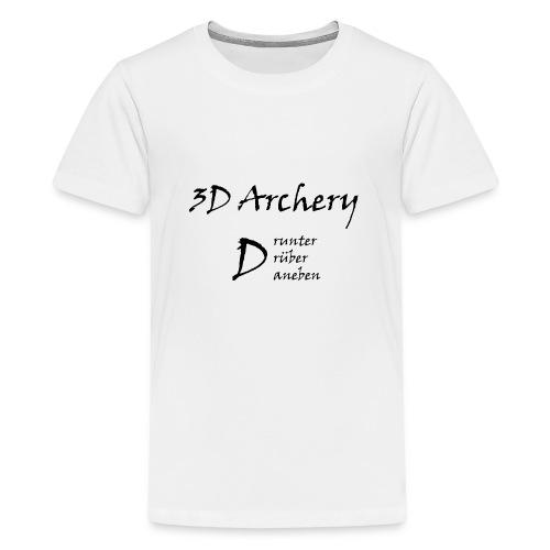3D Archery black - Teenager Premium T-Shirt
