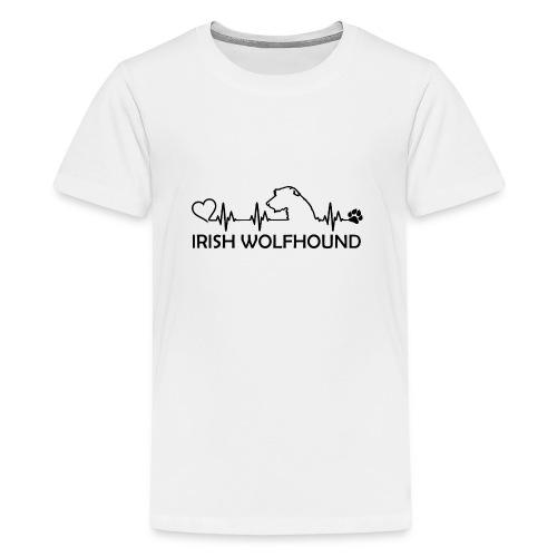 IRISH WOLFHOUND Heartbeat - Teenager Premium T-Shirt