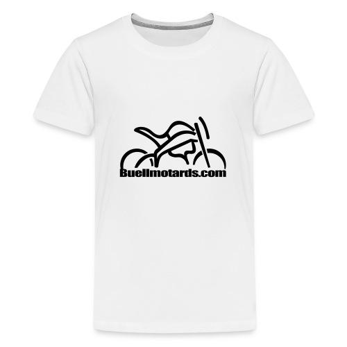 logo buellmotards black - Camiseta premium adolescente