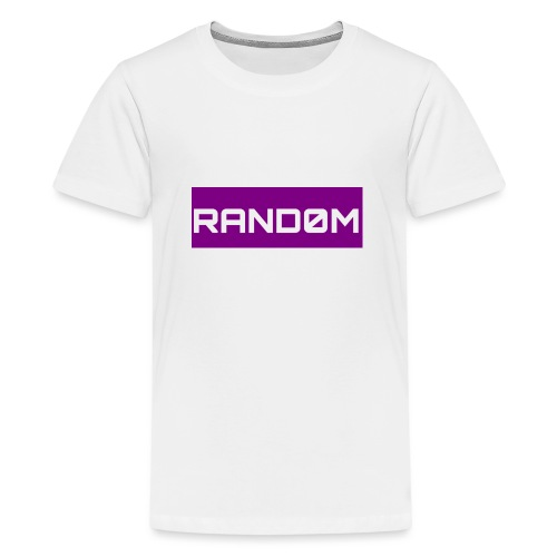RAND0M SMALL LOGO - Teenage Premium T-Shirt