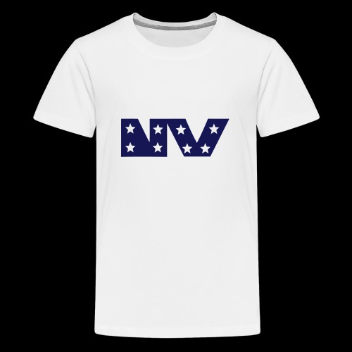 NY S AND S BLUE - Teenage Premium T-Shirt