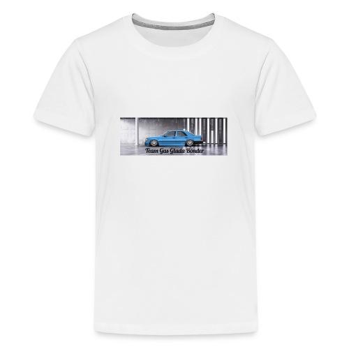"Mercedes 190E "" Team Gas Glada Bönder"" - Premium-T-shirt tonåring"