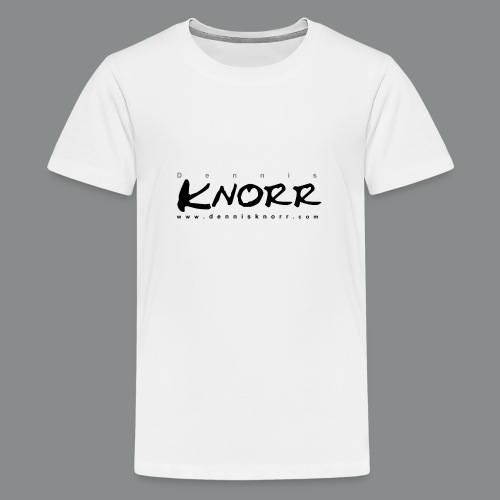 DennisKnorr_Log_sw - Teenager Premium T-Shirt