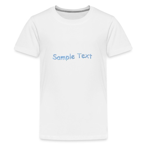 SAMPLE TEXT CAP - Teenage Premium T-Shirt