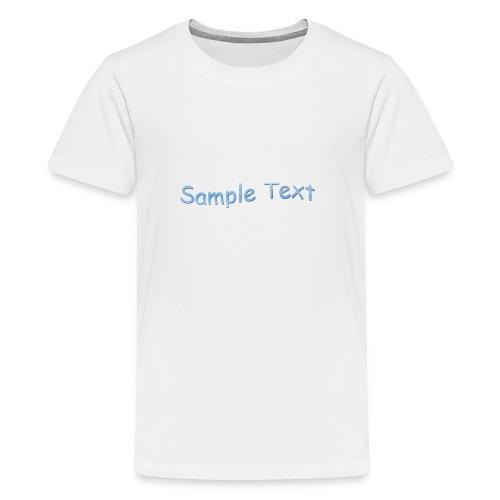 SAMPLE TEXT CAP - Teenage Premium T-Shirt