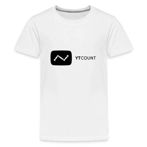 YTCount Logo White - Teenager Premium T-shirt