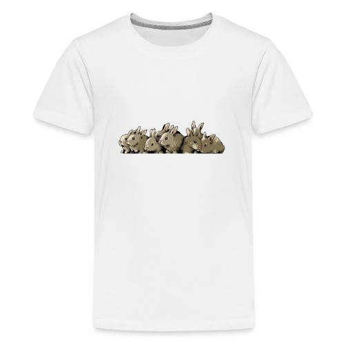 Lapins gris - T-shirt Premium Ado