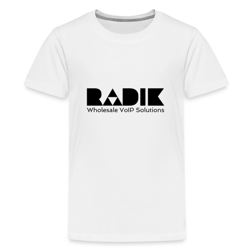 radik logo 1kleur wholesalevoipsolutions - Teenager Premium T-shirt