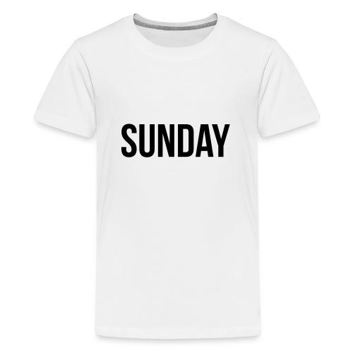 Sunday - Teinien premium t-paita