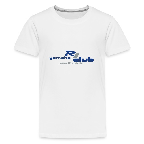 R1club Logo blau - Teenager Premium T-Shirt