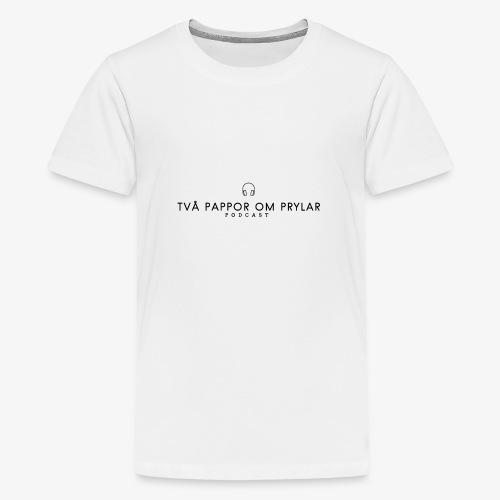 2POP - Svart - Premium-T-shirt tonåring