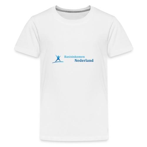 Logo Basisinkomen Nederland 2 - Teenager Premium T-shirt