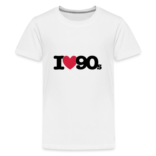 I love 90s - Teenager Premium T-Shirt