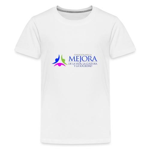 Logo Colorido Alargado - Camiseta premium adolescente