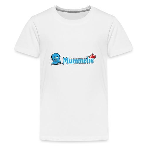 blau komplett nebeneinander - Teenager Premium T-Shirt