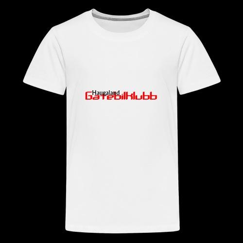 LogoHGK copy - Premium T-skjorte for tenåringer