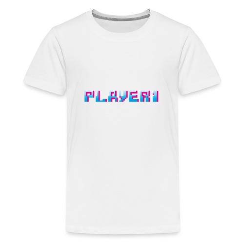 Arcade Game - Player 1 - Teenage Premium T-Shirt