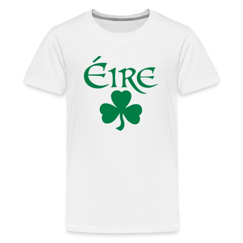Eire Shamrock Ireland logo - Teenage Premium T-Shirt