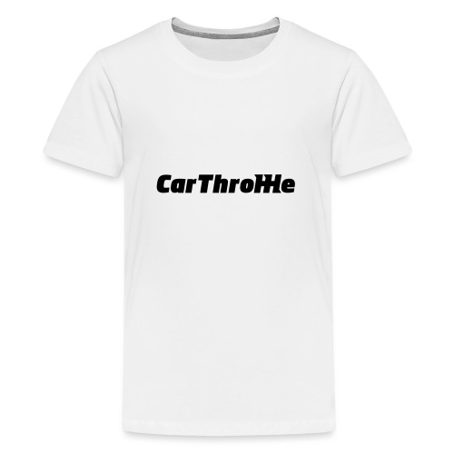 Car Throttle Logo - Teenage Premium T-Shirt