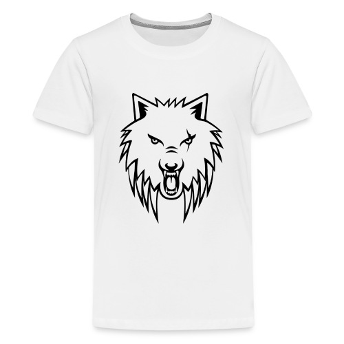 Apollo Wolf Transparent - Teenage Premium T-Shirt