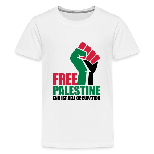 Free Palestine End Israeli Occupation - Teenage Premium T-Shirt