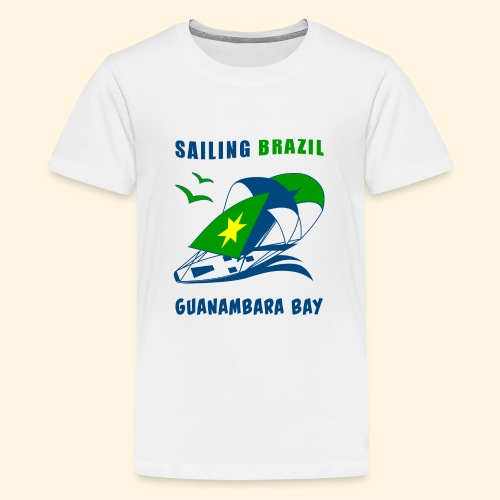 Sailing Brazil - Teenage Premium T-Shirt