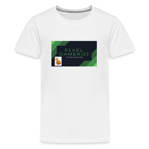 PIXEL GAMER123 HEADER - Teenage Premium T-Shirt