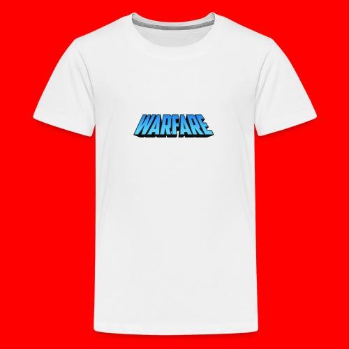 Warfare 2018 Logo Printed Merchandise - Teenage Premium T-Shirt