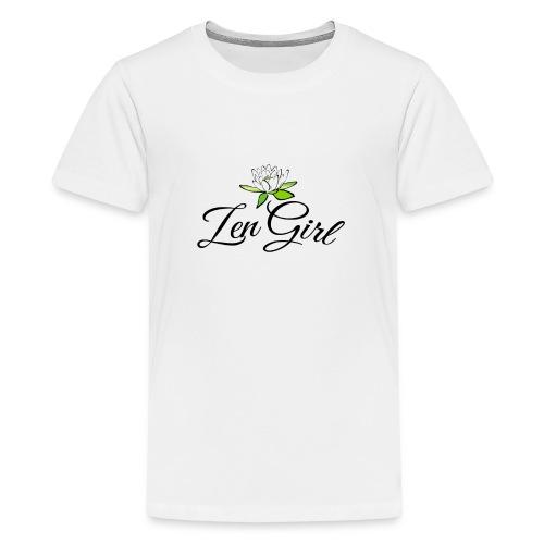 Zen Girl -Lotus Blomma - Prima Vera Design - Premium-T-shirt tonåring