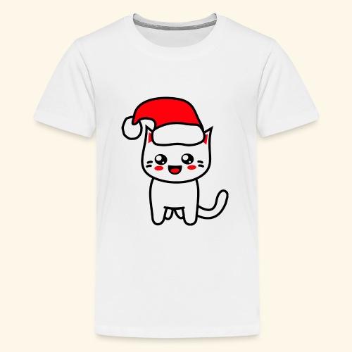 Kawaii Kitteh Christmashat - Teenager Premium T-Shirt