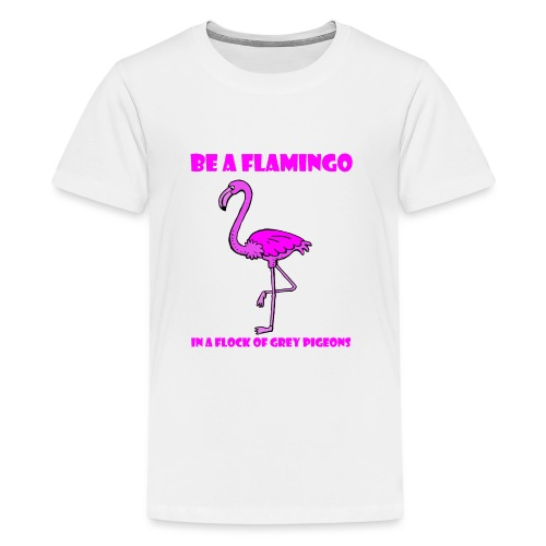 Flamingo Pink Anders sein LGBT - Teenager Premium T-Shirt