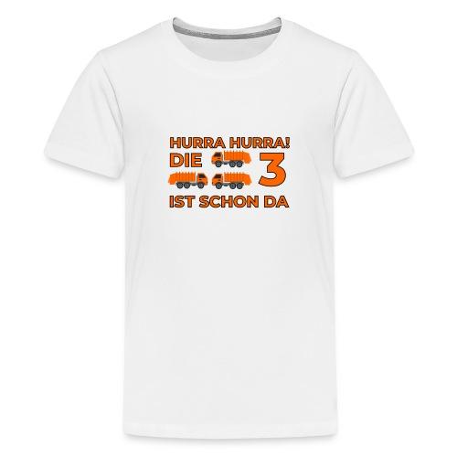 Trzecie urodziny śmieciarka - Koszulka młodzieżowa Premium