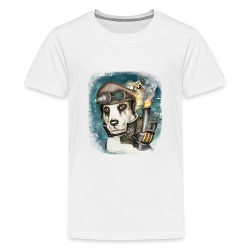 Steampunk Dog #2b - Maglietta Premium per ragazzi