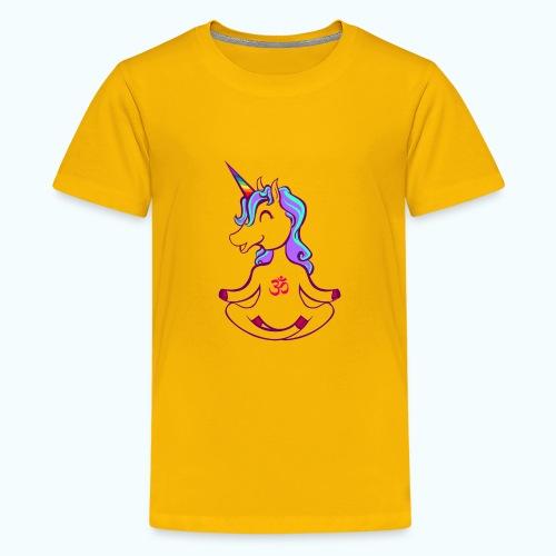 Unicorn meditation - Teenage Premium T-Shirt