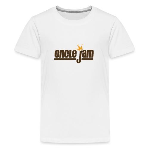 Oncle Jam horizontal brun - T-shirt Premium Ado