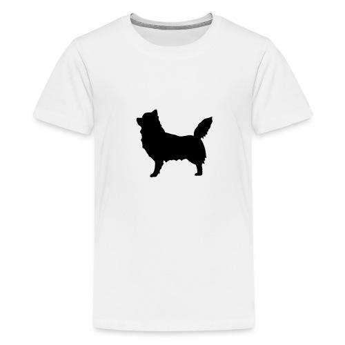 Chihuahua pitkakarva musta - Teinien premium t-paita