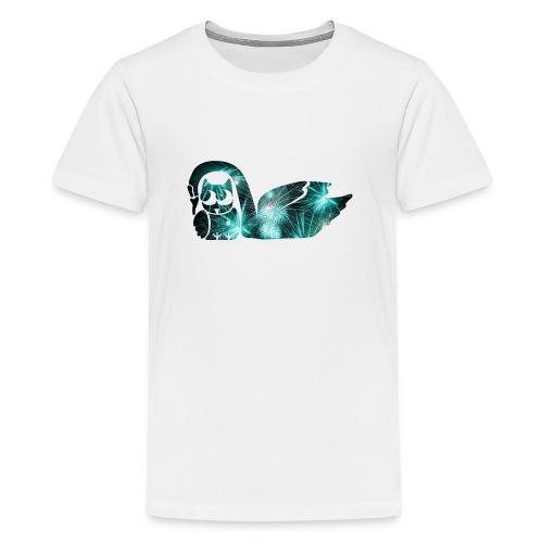 Schwan mit Eule - Teenager Premium T-Shirt