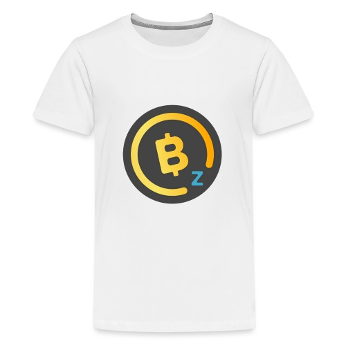 Dark BitcoinZ Logo - Teenage Premium T-Shirt
