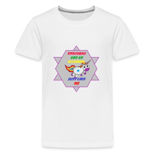 Unicorn with joke - Teenage Premium T-Shirt