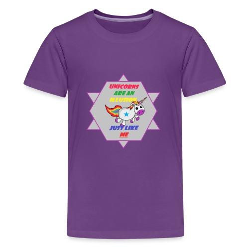 Unicorn with joke - Teenage Premium T-Shirt