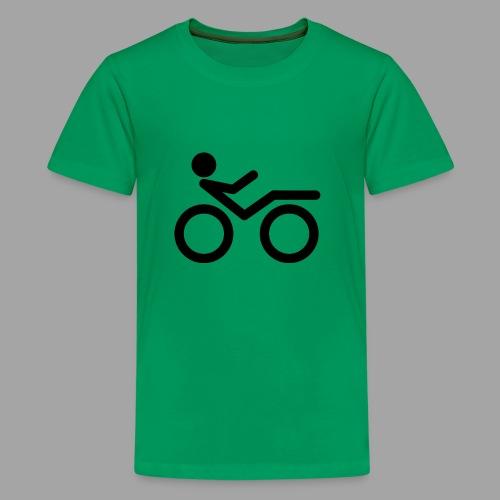 Recumbent bike black 2 - Teinien premium t-paita